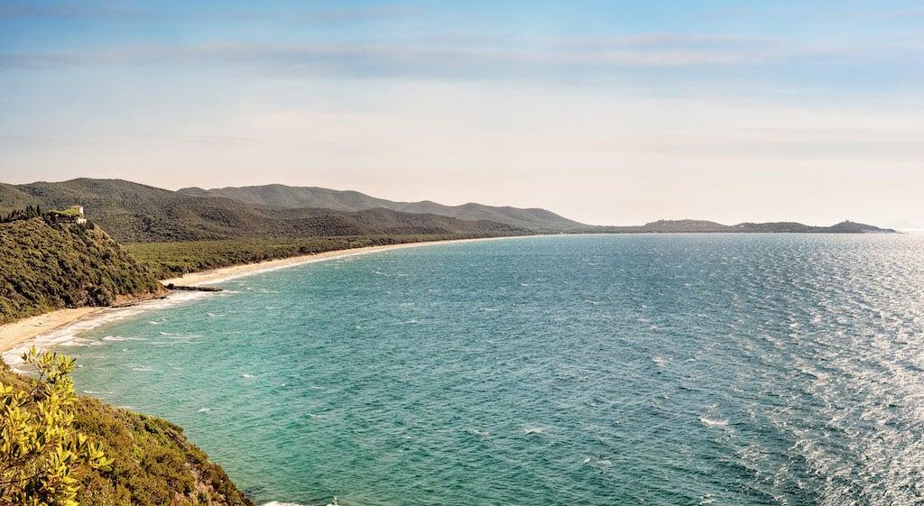 Spiagge di sabbia e roccia a Scarlino
