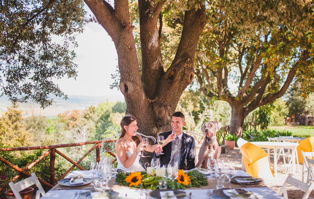 Wedding with dog in Maremma at BeVedetta