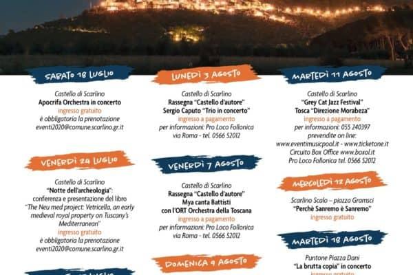 Programma eventi Scarlino